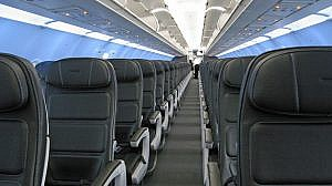 A photo of the interior of a British Airways aircraft