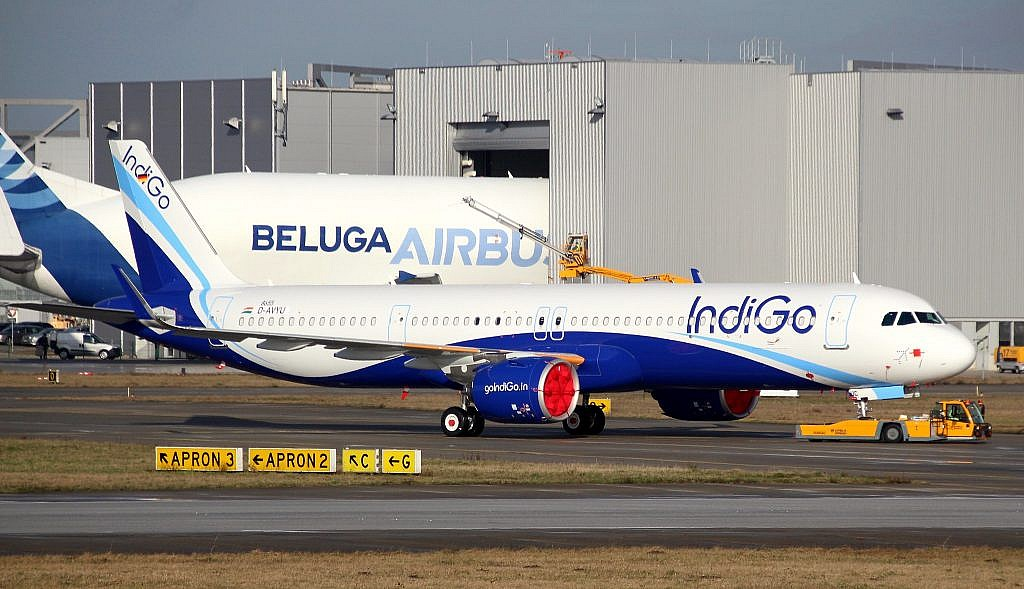 IndiGo A321 in Toulouse for delivery