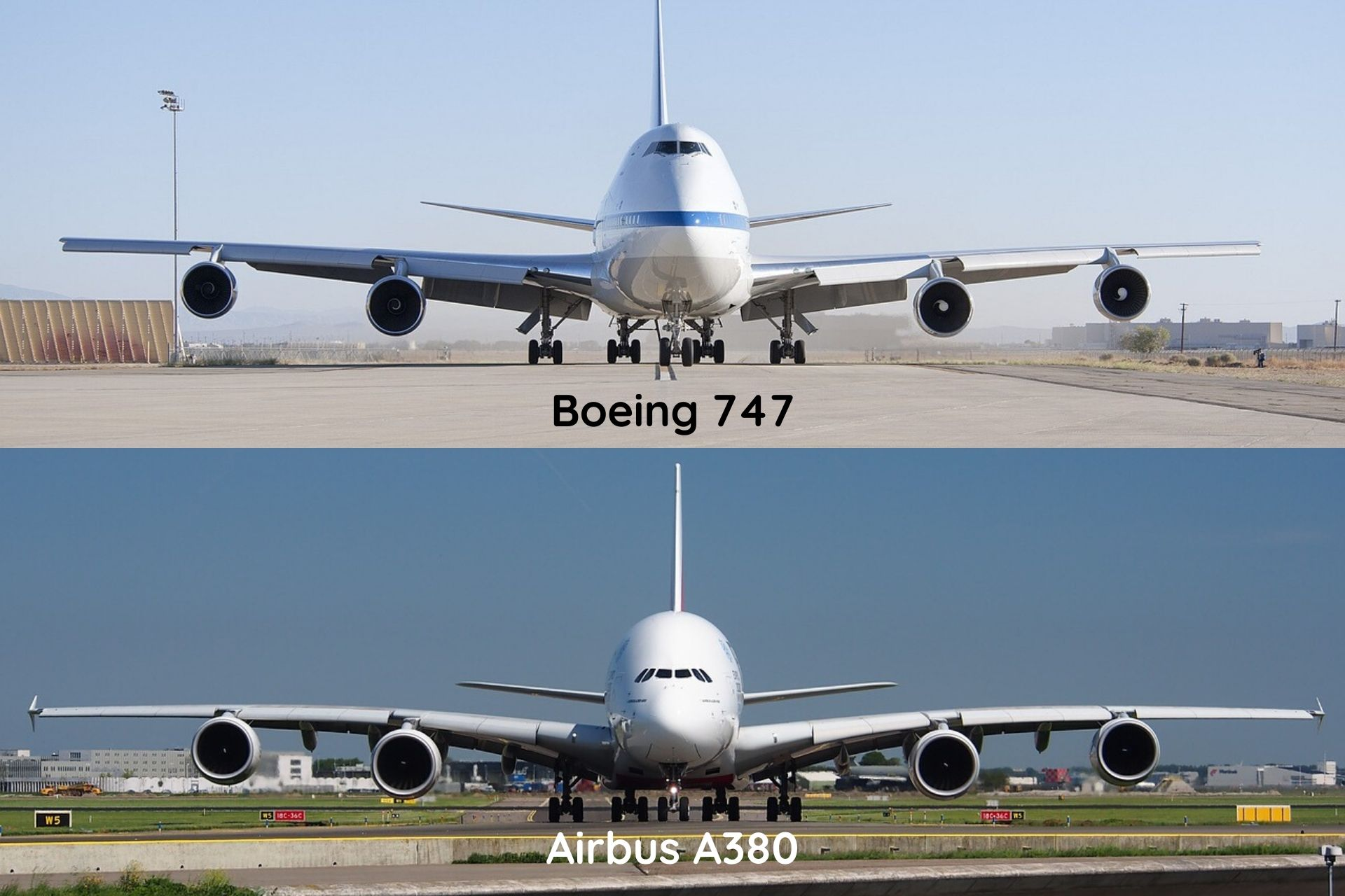 A380 and B747