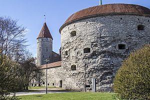 Fat Margaret Cannon Tower in Tallinn the Capital of Estonia