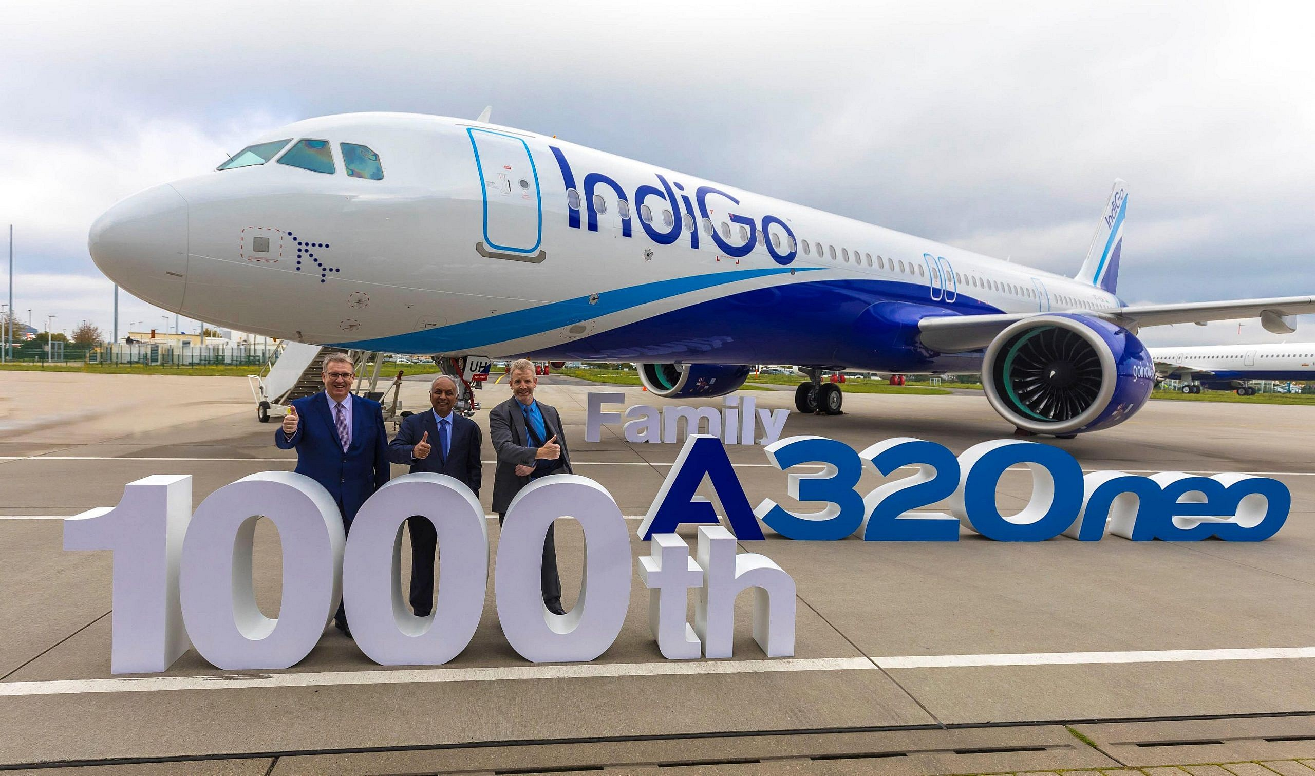 Airbus 1000th delivery to IndiGo