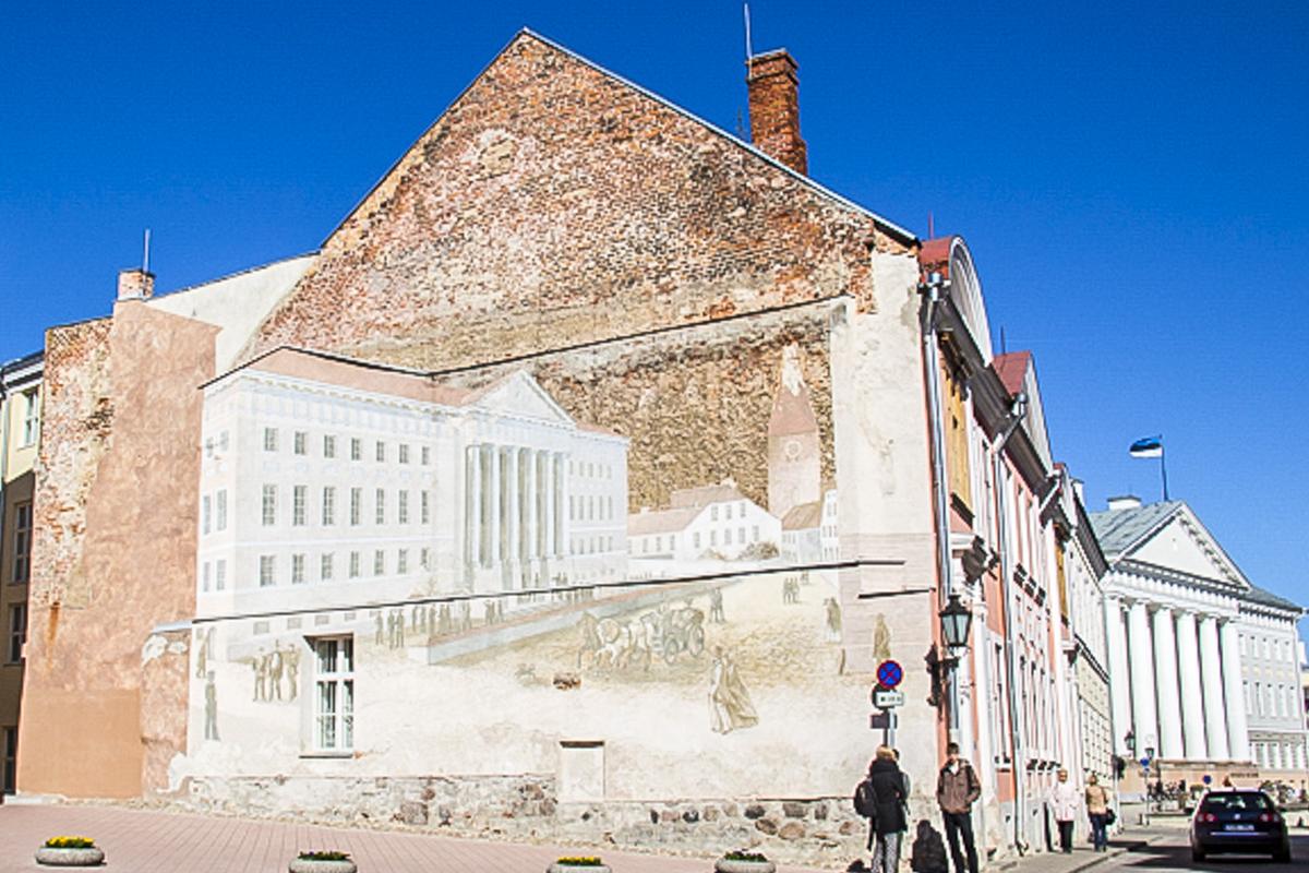 University Buildings in Tartu in Estonia