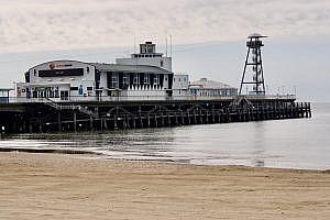 Bournemouth Pier in Bournemouth, Dorset