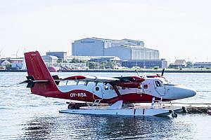 De Havilland Canada DHC-6-300 Twin Otter on Nordic Seaplane Service from Copenhagen to Aarhus