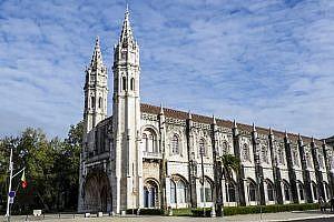 Mosteiro dos Jerónimos in Belem a District of Lisbon
