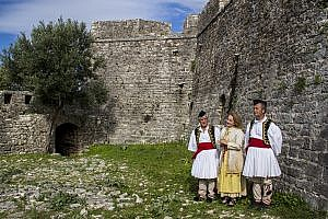 Polyphonic Singers inside Porto Palermo Castle in Albania