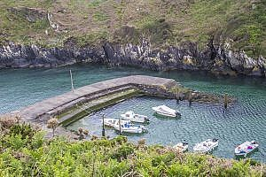 Porthclais Harbour on St David's Peninsula in Pembrokeshire, Wales