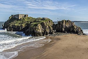 St Catherine's Island in Tenby Pembrokeshire, Wales