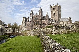 St David's Cathedral in St David's City, Pembrokeshire in Wales