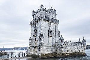 Torre de Belem in Belem a District of Lisbon