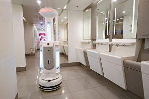 Hong Kong International Airport cleaning robot