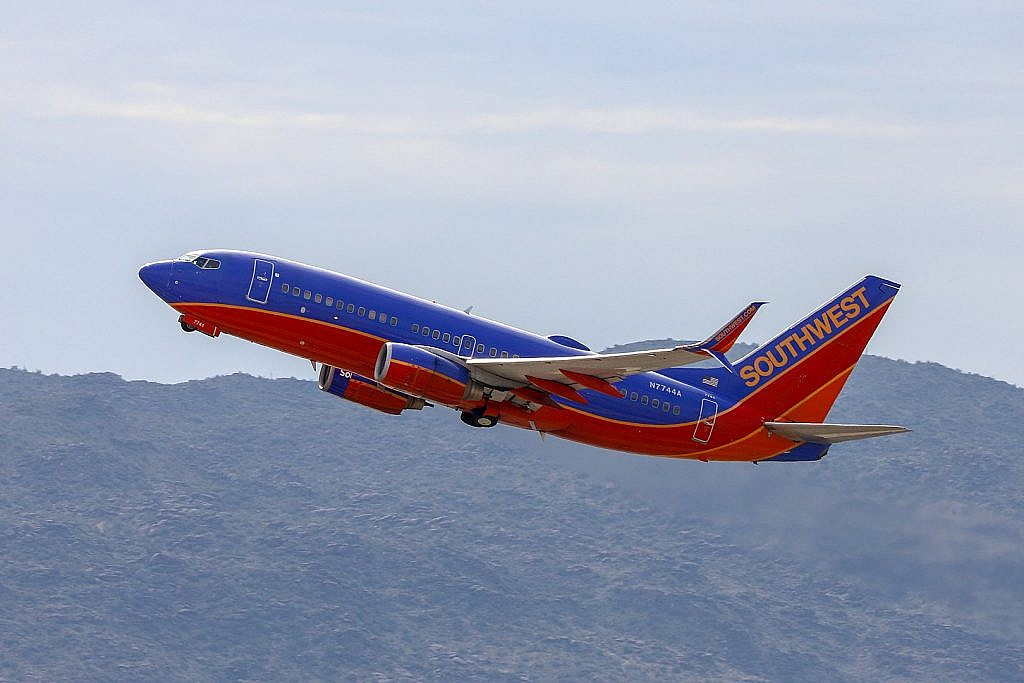 Southwest Airlines aircraft taking off