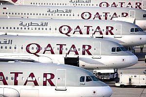 Qatar Airways Fleet on Stand
