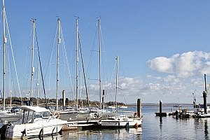 Lymington River Estuary in Lymington, the New Forest in Hampshire