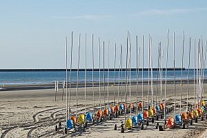The Beach at Boulogne sur Mer in France
