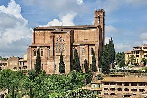 Basilica of San Domenico, Siena in Italy
