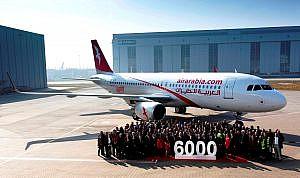 AirArabia 6000th delivery