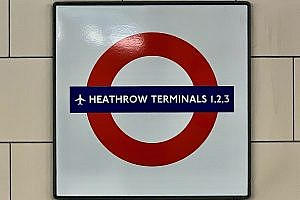 Underground Station at Heathrow