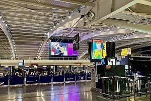 Check-in Area in Terminal 5 at Heathrow