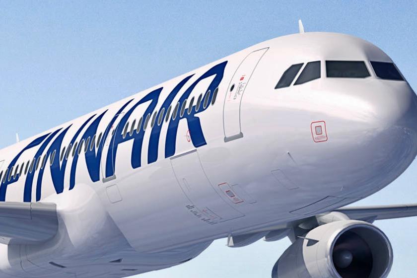 Finnair Plane in Flight