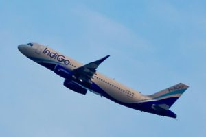 Indigo A320 in Flight