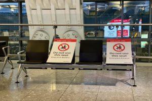 Social Distancing Measures at London Heathrow Airport