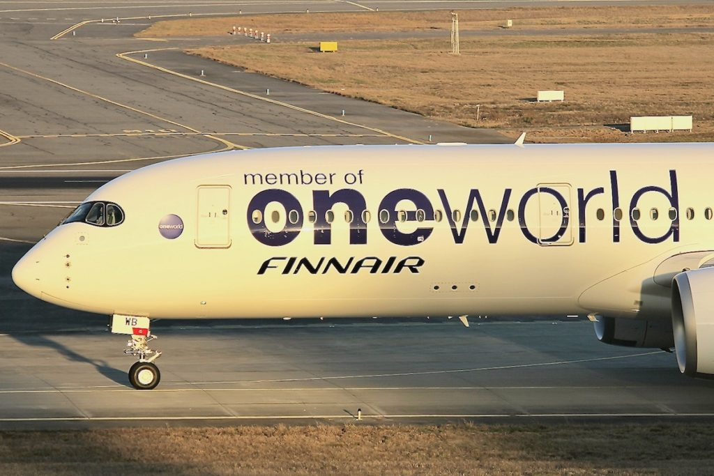 Oneworld Livery on a Finnair Plane