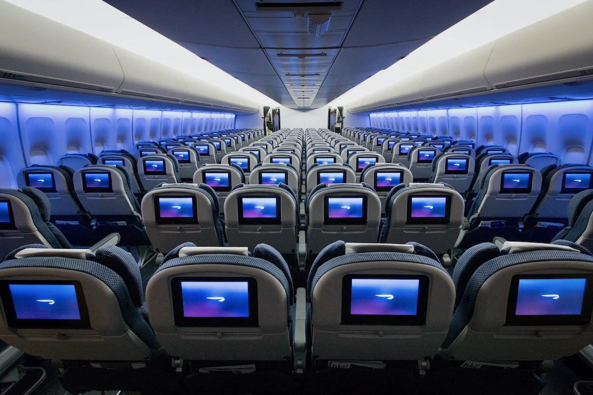 Inside a British Airways Boeing 747