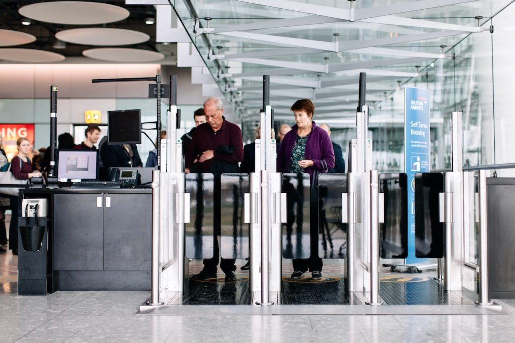 Biometric Self-Boarding Gates