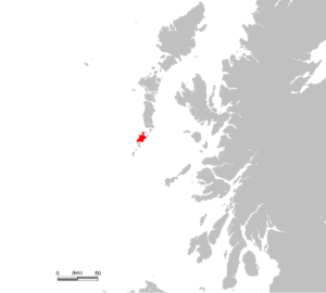 An image of Barra Airport in Scotland on the map.
