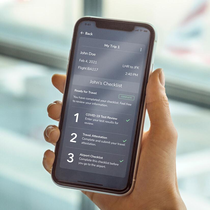 VeriFly app, British Airways