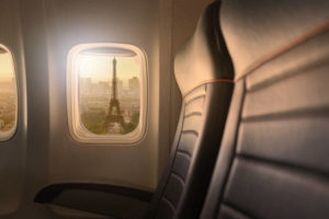 Plane with a view of Eiffel Tower