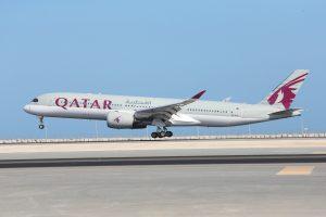Qatar Airways Plane Taking Off
