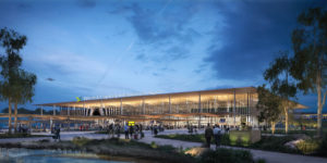 Zaha Hadid Architects and Australian firm Cox Architecture were selected to design the sterminal precinct