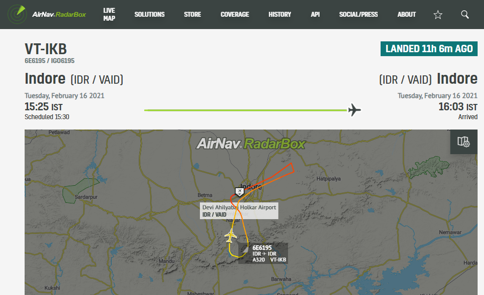 Indigo Airbus A320 makes emergency landing in Indore