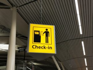 Airport check-in