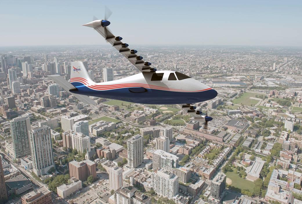 NASA Maxwell X-57 Concept electric plane