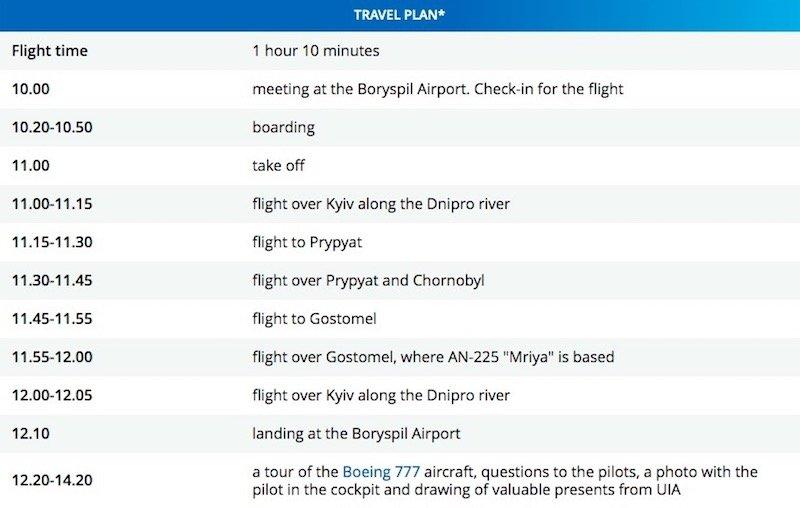 Ukraine International Airlines Flight to nowhere itinerary