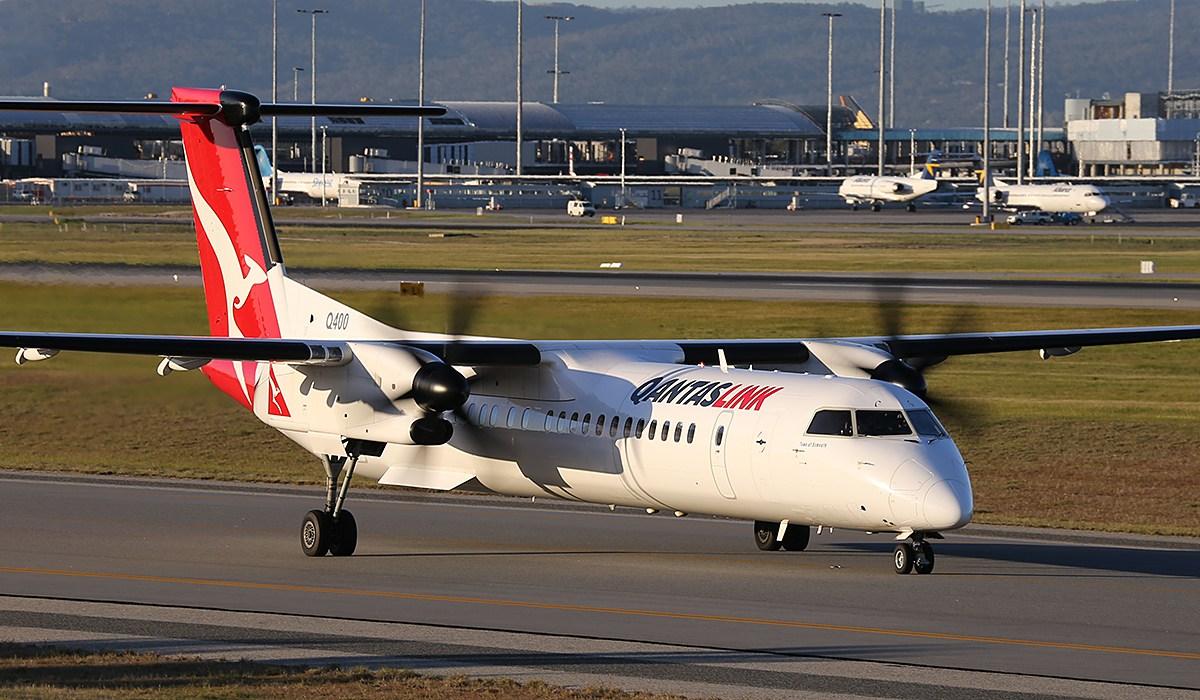 Qantas using the QantasLink De Havilland 'Dash 8' Q400 turboprops for ski destinations this year