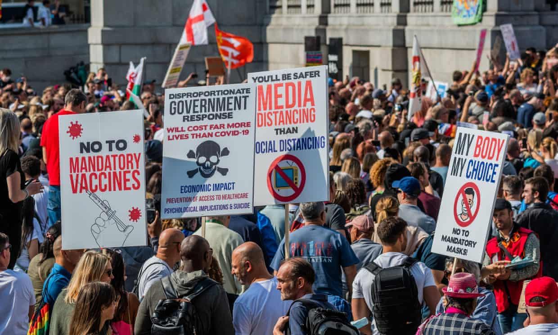 Anti-Vaccine protests in London