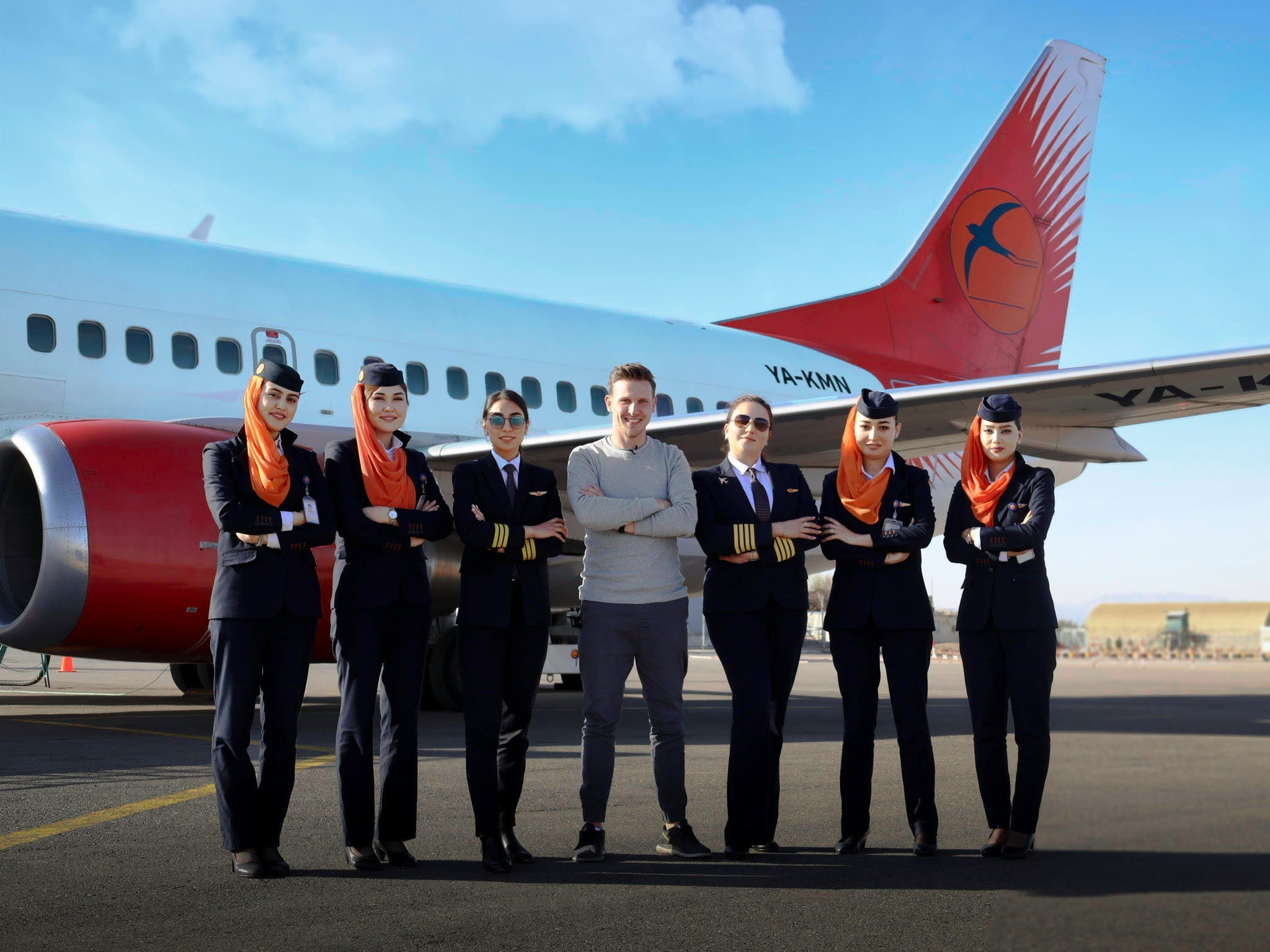 Josh Cahill Afghanistan's first all-female flight on Kam Air
