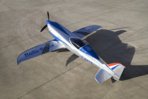 ACCEL All Electric Aircraft. Image By Rolls Royce Plc.