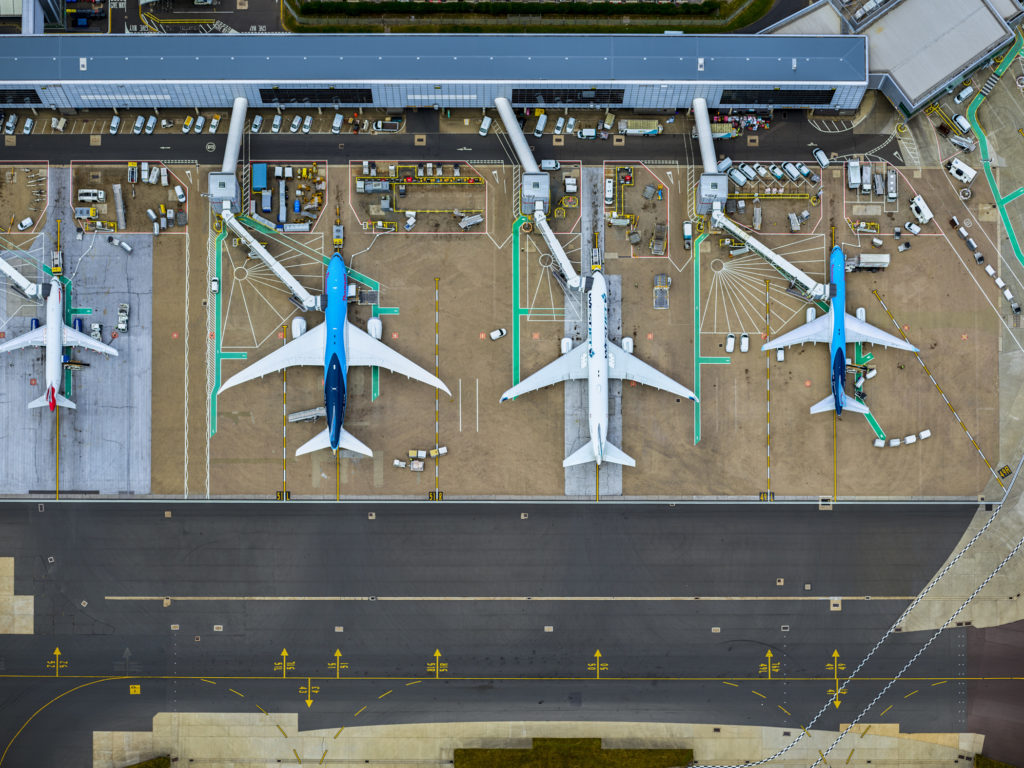 Planes grounded at Gatwick Airport © Gatwick Media Centre
