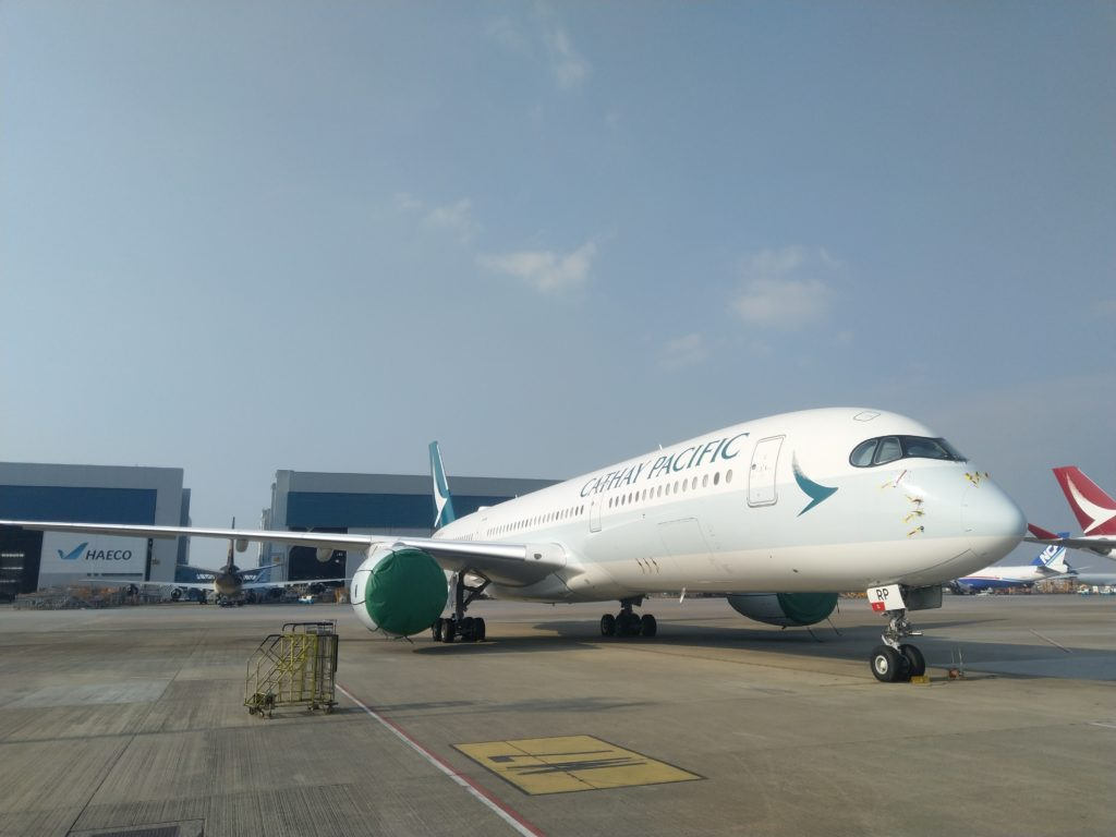Cathay Pacific has parked almost half of its fleet.