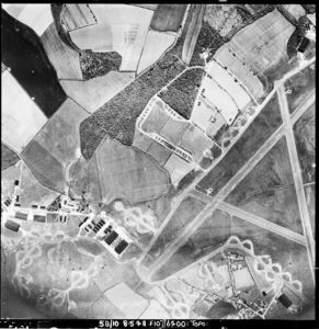 An aeriel photograph of RAF Stansted Mountfitchet
