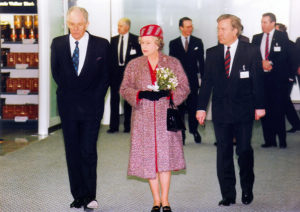 Queen Elizabeth opening Stansted Airport's Terminal in 1991
