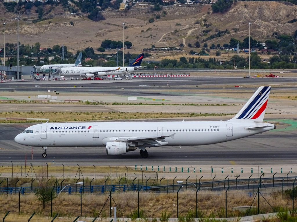 Air France A321 at Madrid-Barajas Airport. Photo by Miguel Ángel Sanz