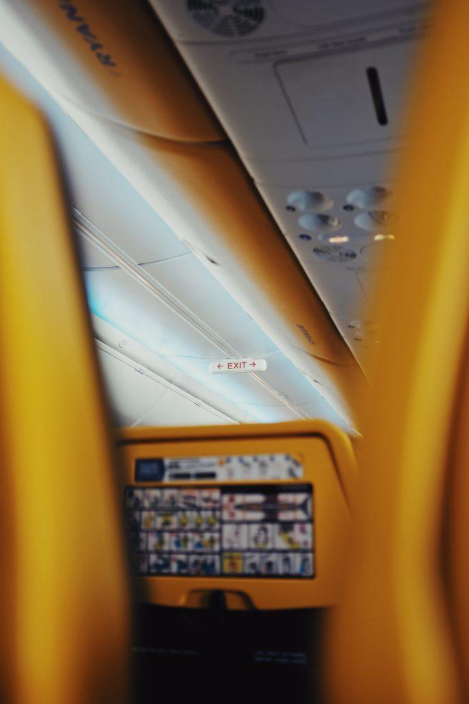 On board a Ryanair flight. Photo by Oscar Nord