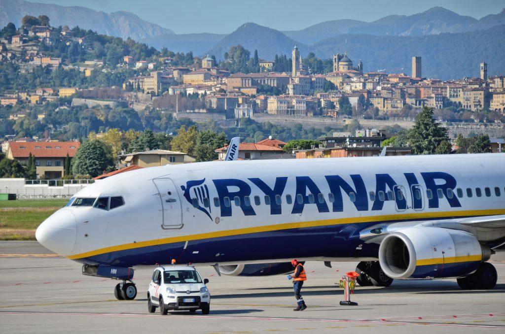 Ryanair at Bergamo BGY Airport
