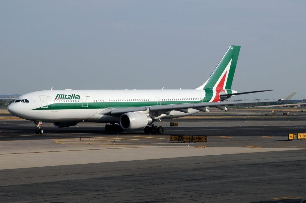Alitalia A330 taxiing. Photo by Kenneth Iwelumo